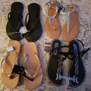 4 brand new womens sandals bundle 5/6